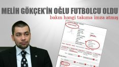 Ahmet Gökçek futbolcu oldu