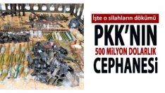 PKK'nın 50 milyon dolarlık cephanesi