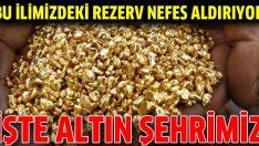 Bu ilimizdeki altın rezervi Türkiye'yi rahatlatıyor