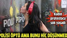 Polis öpen kadına para cezası