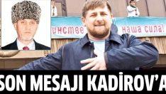 Kadirov'a ağır cevap!
