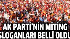 AK Parti'nin miting sloganı belli oldu