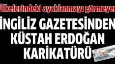 İngilizlerden küstah, Erdoğan karikatürü