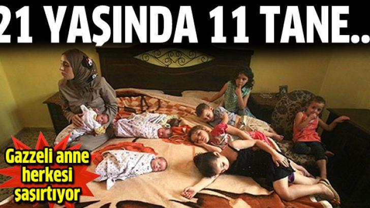 21 yaşındaki Gazzeli annenin tam 11 çocuğu var
