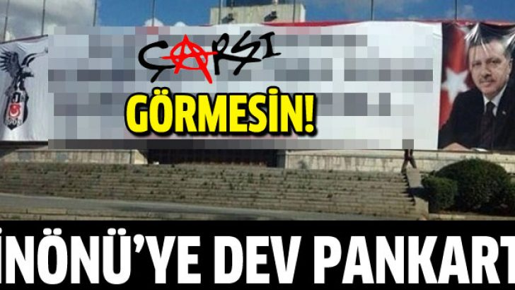 Beşiktaş'tan Başbakan'a destek pankartı