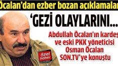 Öcalan'dan flaş açıklamalar:  Gezi olaylarının hedefi barış süreciydi