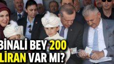 Başbakan Erdoğan Binali Yıldırım'dan borç aldı
