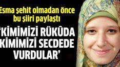 Biltaci'nin kızı Esma ölmeden önce bu şiiri paylaştı