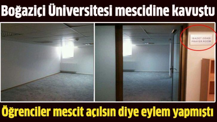 Boğaziçi Üniversitesi mescidine kavuştu