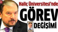 Prof. Artan yeniden Haliç Üniversitesi'nde