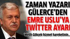 Zaman yazarı Hüseyin Gülerce'den Emre Uslu'ya twitter'dan yanıt