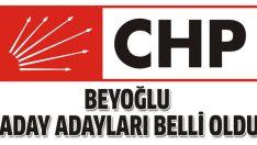 CHP Beyoğlu Belediye Başkan Aday Adayları belli oldu