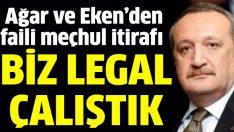 Mehmet Ağar ve Korkut Eken: Biz legal çalıştık