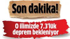 Doğu Anadolu'da 7.3'lük deprem bekleniyor