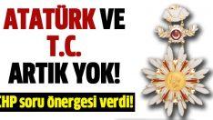 Devlet nişanında artık Atatürk ve T.C. yok