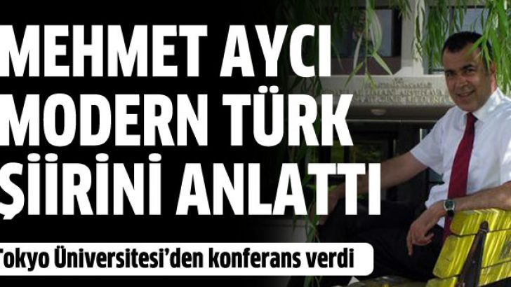 Mehmet Aycı Japonlara Türk şiirini anlattı