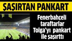 Fenerbahçe tribünlerinde sosyal medyayı sallayan pankart