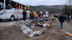 Burdur'da otobüs kazası: 3 ölü 8 yaralı