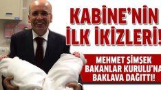 Mehmet Şimşek'in çocukları Kabine'nin ilk ikizleri!