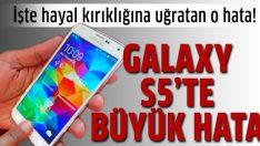 Samsung Galaxy S5'te parmak izi hatası!