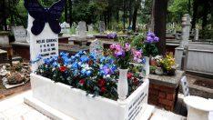 Kızına kelebekli mezar taşı yaptırdı