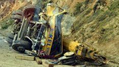 Tokat'ta vinç kazası: 1 ölü