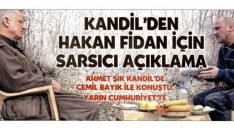 Ahmet Şık Kandil'de Cemil Bayık ile görüştü