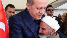 Yaşlı amcanın Erdoğan sevgisi!