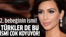Kim Kardashian'ın bebeğinin ismi belli oldu