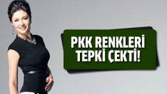 Nurgül Yeşilçay'ın resmindeki PKK renkleri tepki çekti