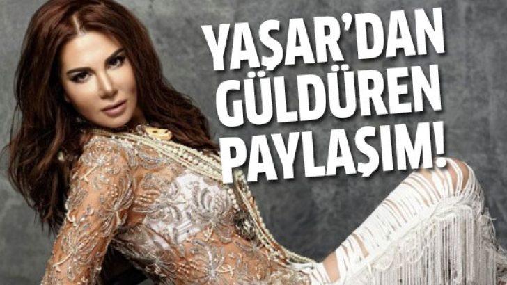 Ebru Yaşar'dan güldüren bayrak paylaşımı