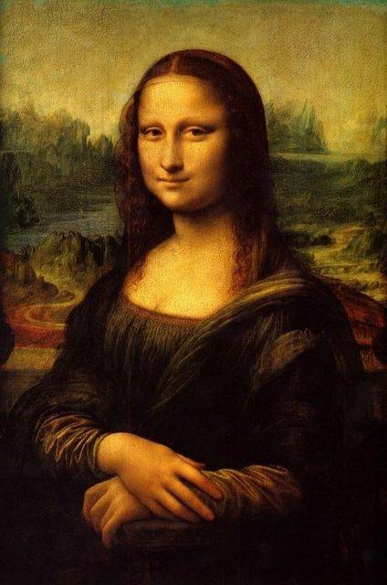 'Mona Lisa' Da Vinci'nin en meşhur tablosu... Kesin kimliği konusunda hala spekülasyonlar olan Mona Lisa'nın sağ göz bebeğinde L ve V harflerinin olduğu ortaya çıktı. Mona Lisa'nın sol gözünde ise CE ve B harflerinin gizlendiği belirlendi. Ancak 500 yıldan daha fazla süre önce yapılan tabloda zamanla oluşan yıpranma nedeniyle harfler net okunamıyor.