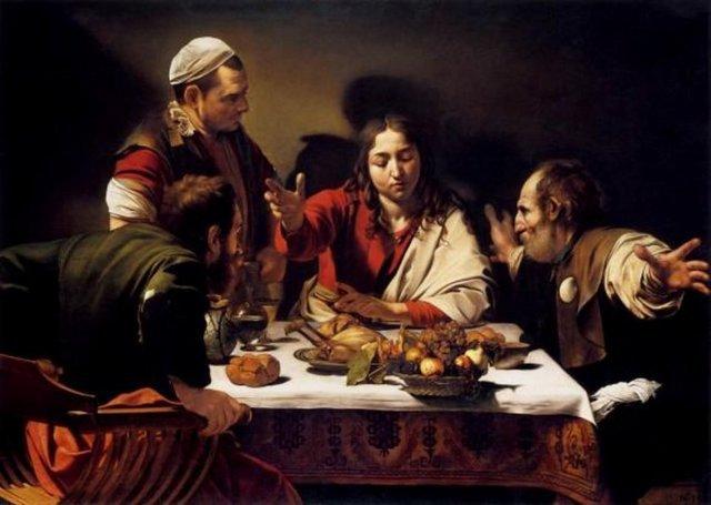 'Emmaus'ta Son Akşam Yemeği' Caravaggio'nun resminde