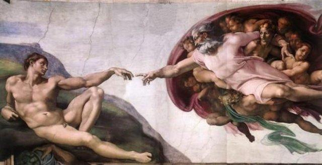 'Ademin yaratılışı' Michelangelo tarafından 1508-1512 döneminde Sistine Şapeli'nin tavanının resimlendirip dekorasyonundan ortaya çıkarılan yüksek rönesans resim sanatının zirve şahaseri