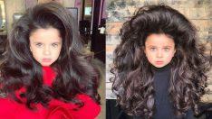 5 yaşındaki Mia'nın ahenkle dans eden muhteşem saçları!