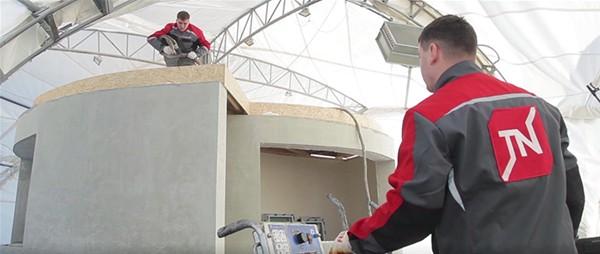 Bir başka firma 3D yazıcı kullanarak iki katlı bir bina inşa etmiş, inşaat 45 gün sürmüştü.