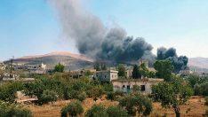 Suriye ve Rus uçakları İdlib'i bombalıyor!