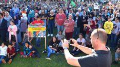 Almanya'da yaşayan Müslümanlardan ırkçılığa karşı protesto