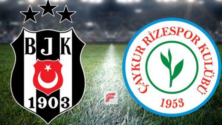 Beşiktaş Çaykur Rizespor maçı hangi kanalda, saat kaçta? Beşiktaş'ın Çaykur Rizespor karşısındaki ilk 11'i