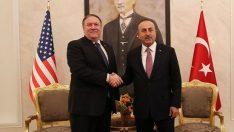Dışişleri Bakanı Mevlüt Çavuşoğlu, Pompeo ile görüştü