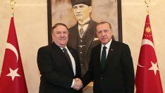 Erdoğan ile ABD Dışişleri Bakanı Pompeo'nun görüşmesi sona erdi