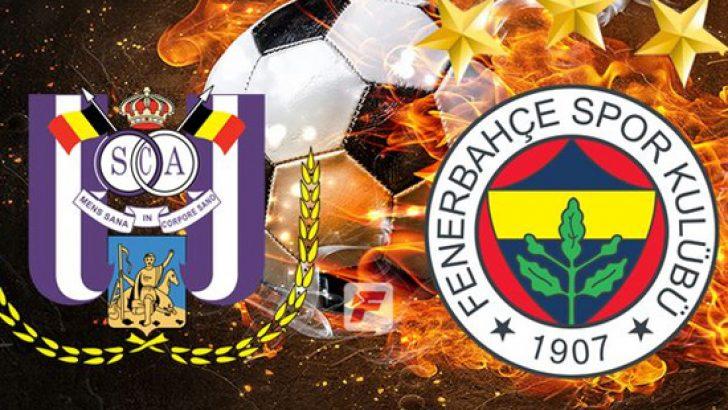 Fenerbahçe Anderlecht maç kadrosu belli oldu! İşte Anderlecht Fenerbahçe ilk 11'ler