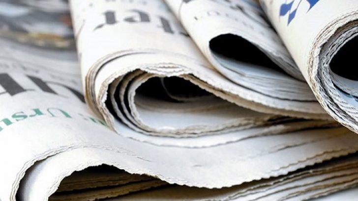 Günün gazete manşetleri – 11 Ekim 2018