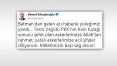 Kemal Kılıçdaroğlu'nun şehit twitine tepki yağdı