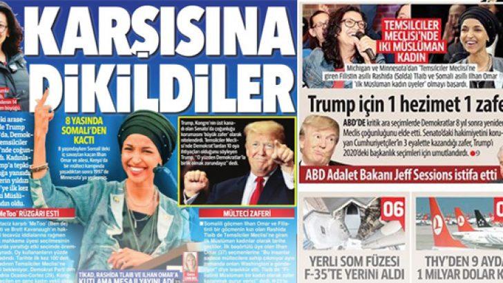 ABD'deki temsilciler seçimi manşetlerde.. 8 Kasım 2018 günün gazete manşetleri