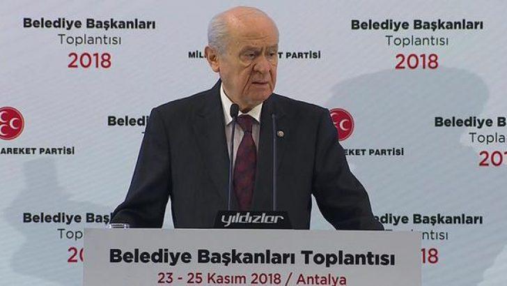 MHP lideri Bahçeli: İstanbul, Ankara ve İzmir'den aday göstermeyeceğiz