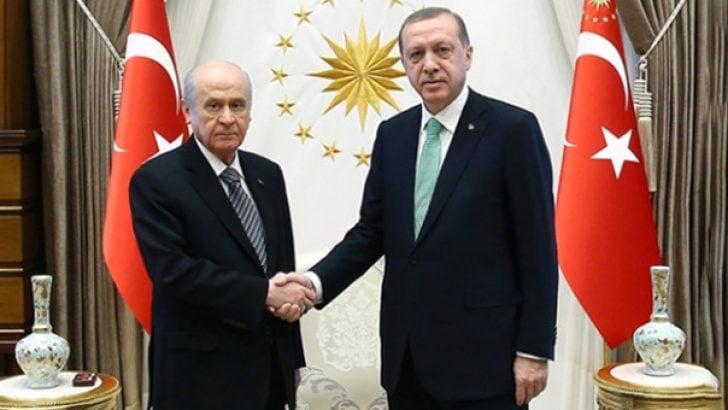 Beştepe'de ittifak zirvesi! Erdoğan Bahçeli'yi kabul etti