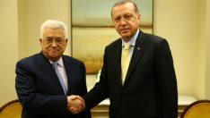 Cumhurbaşkanı Erdoğan, Mahmud Abbas ile görüştü