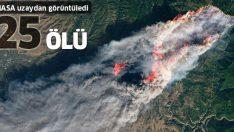 NASA ABD'deki yangınları uzaydan görüntüledi