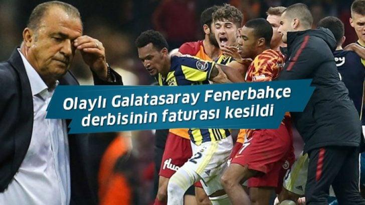 Olaylı Galatasaray Fenerbahçe derbisinin cezaları onandı!